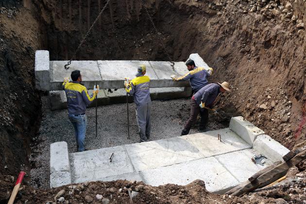 اجرا و نصب زیرگذر باکسی راهآهن در کارسالار سوادکوه