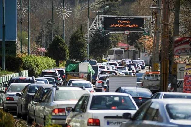 ترافیک نیمه سنگین در محور کرج_چالوس
