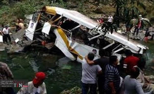 سقوط مرگبار اتوبوس پلیس در پرو