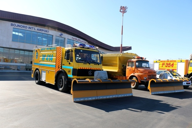 برگزاری تمرین طرح زمستانی در فرودگاه بجنورد