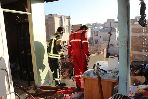انفجار یک منزل مسکونی بر اثر نشت گاز در قزوین