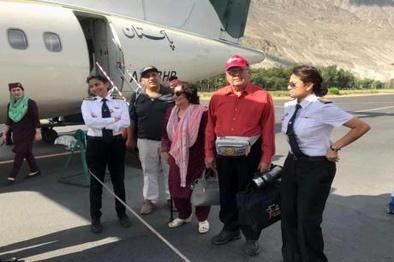 عکس/ خلبان زن پاکستانی که تحسین همگان را برانگیخت