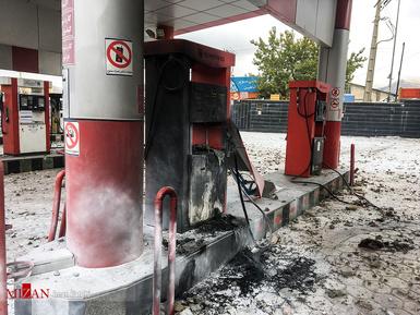 اغتشاشات اشرار به بهانه اعلام نرخ جدید بنزین
